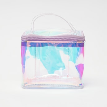 See Through Pouch with Handle and Zip Closure
