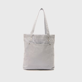 Textured Tote Bag with Top Handle