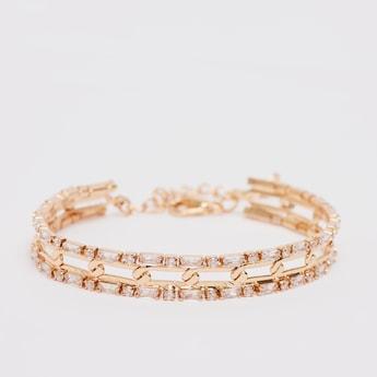Stud Detail Bracelet with Lobster Clasp