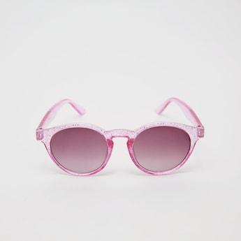 نظارة شمسية ملونة بإطار بتشطيب جليتر