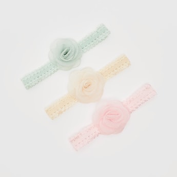 Set of 3 - Hairbands with Rosette Motif