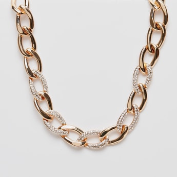 Short Chunky Link Chain Necklace