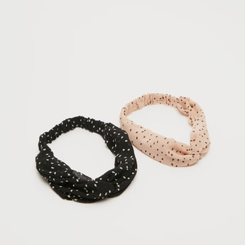 Set of 2 - All-Over Print Hair band with Knot Detail