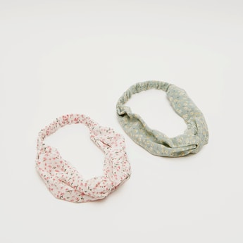 Set of 2 - Floral Print Hairbands