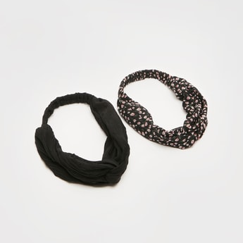 Pack of 2 - Assorted Hairbands with Knot Detail