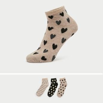 Pack of 3 - Printed Ankle Length Socks