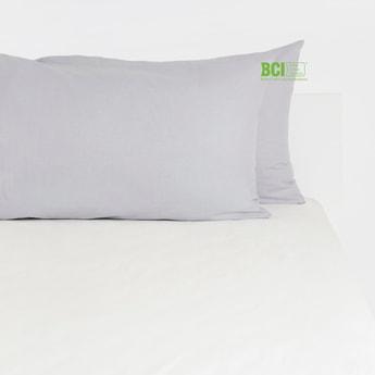 Solid Rectangular 2-Piece Pillow Case - 75x50 cms