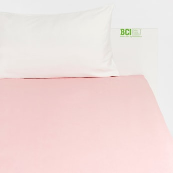 Solid King Size Fitted Sheet with Elasticised Hem - 200x180 cms