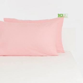Solid 2-Piece Rectangular Pillow Case - 75x50 cms