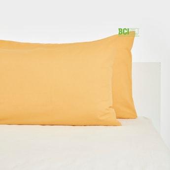 Solid 2-Piece Pillow Case - 75x50 cms