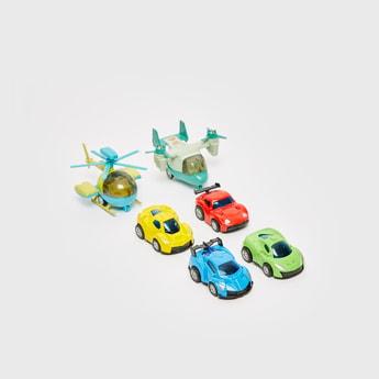 مجموعة من 6 - مجموعة ألعاب مركبات متنوعة