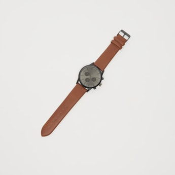 ساعة يد تناظرية مستديرة