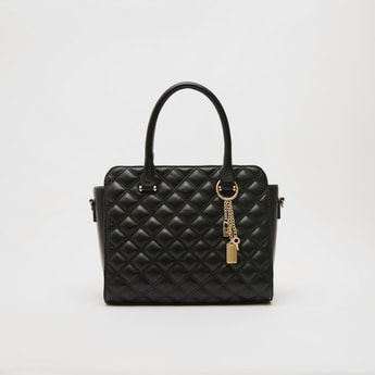 Quilted Tote Bag with Double Handles