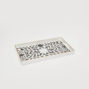 Printed Rectangle Serving Tray with Cutout Handles