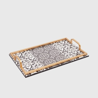 Printed Rectangle Serving Tray with Handles