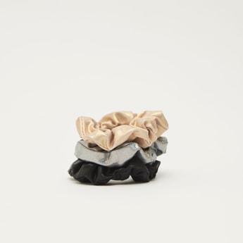 ربطة شعر بارزة الملمس  - طقم من 3 قطع