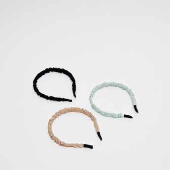 Set of 3 - Assorted Ruched Hair Band