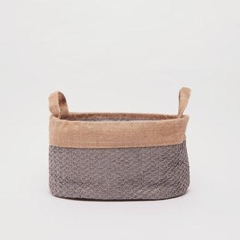 Textured Storage Basket with Twin Handle