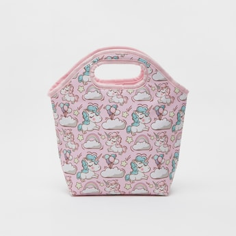 Unicorn Print Tote Lunch Bag with Zip Closure