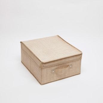 صندوق تخزين مزيّن بطبعات - 28x33x15 سم