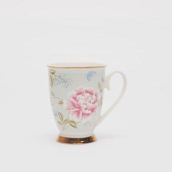 Floral Print Mug with Handle