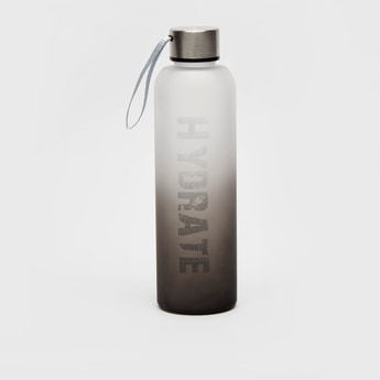 Ombre Typographic Print Water Bottle