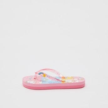 Unicorn Print Flip Flops