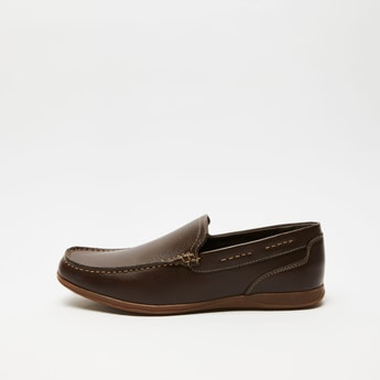 Solid Casual Slip-On Shoes