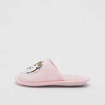 Unicorn Embroidered Slip-On Bedroom Slides