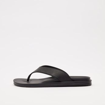 Solid Slip-On Thong Strap Slippers