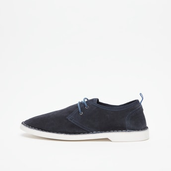 Solid Lace Up Shoes with Pull Tab