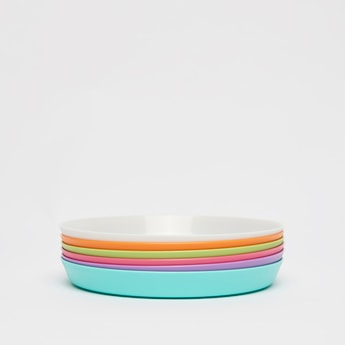Set of 6 - Solid Round Plate