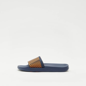 Striped Slip-On Beach Slippers