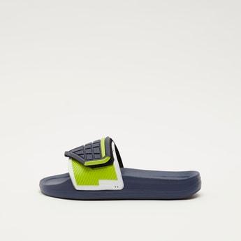 Textured Open-Toe Beach Slippers