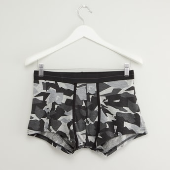 Printed Trunks with Wide Elasticised Waistband