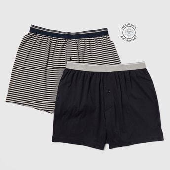 Set of 2 - Assorted Boxer Briefs with Elasticised Waistband