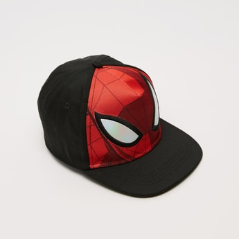 Spider-Man Print Cap with Snap Back Closure