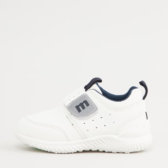 Perforated Low Top Shoes with Hook and Loop Closure