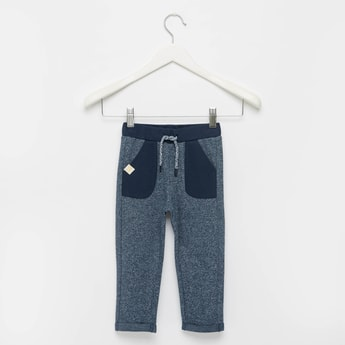Textured Pants with Pockets and Drawstring Closure