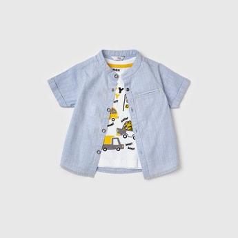 Printed T-shirt and Shirt Set