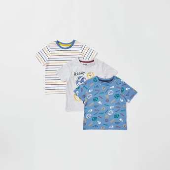 Set of 3 - Assorted Round Neck T-shirt with Short Sleeves