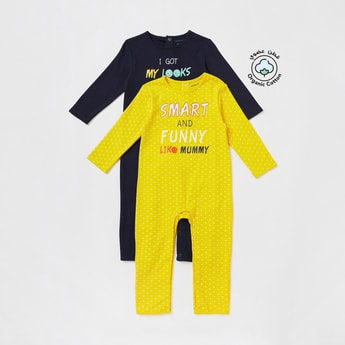 Set of 2 - Printed Full-Length Sleepsuit with Long Sleeves