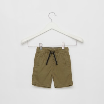 Solid Shorts with Pockets and Drawstring