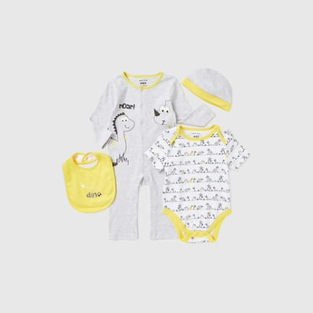 Dinosaur Print 4-Piece Clothing Set