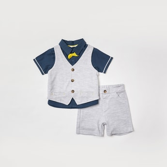 Solid 3-Piece Clothing Set