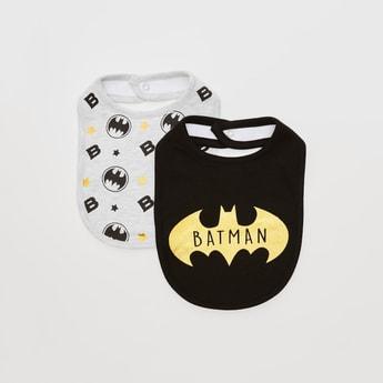 Set of 2 - Batman Print Bib