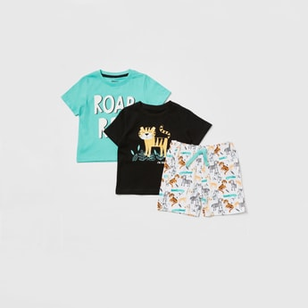 Graphic Print 3-Piece Clothing Set