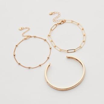 Set of 3 - Embellished Bracelets