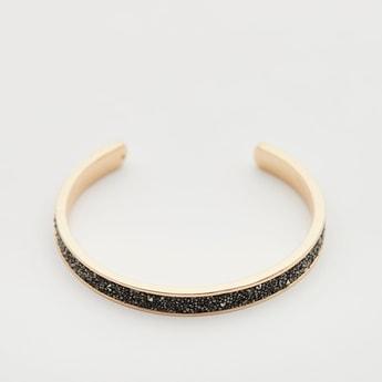 Embellished Open-Cuff Bracelet