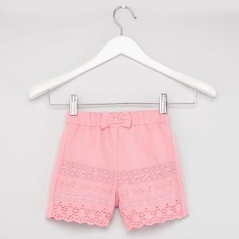 Shiffley Embroidered Shorts with Elasticated Waistband